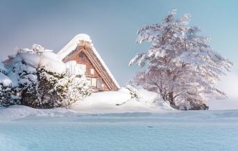 Širakawa gó, zima