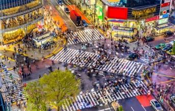 Tokio, křižovatka Šibuja