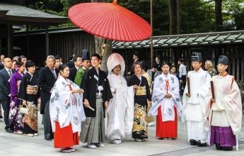Tradiční šintoistická svatba, Japonsko