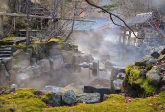 Venkovní onsen, Japonsko