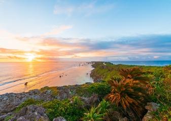 západ slunce Okinawa