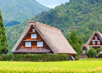 Historická vesnice Širakawa-go, Japonsko