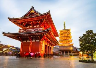 Chrám Sensódži Asakusa Tokio
