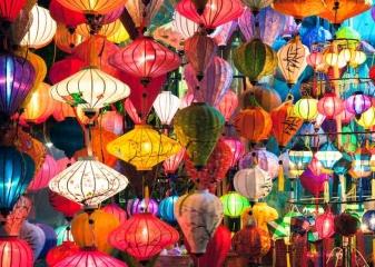 lampiony, Hoi An, Vietnam