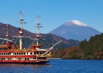 Pirátská loď na jezeře Aši-noko, Fudži