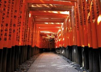Rumělkové brány Tóri, Kjóto