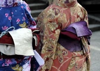 Detail kimona, Kjóto