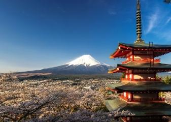 Výhled na Fudži, Japonsko