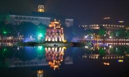 noční Hanoj, Vietnam