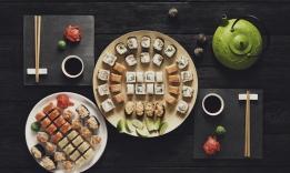 Příklad japonské kuchyně - oblíbené suši