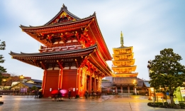 chrám Asakusa, Tokio, Japonsko