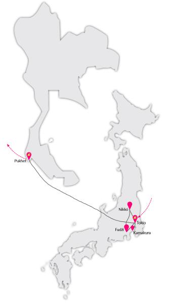 Zájezd Japonsko a thajský Phuket