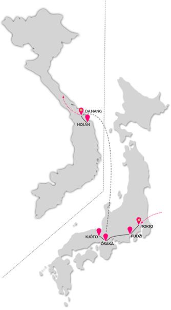 Zájezd Japonsko a pláže středního Vietnamu