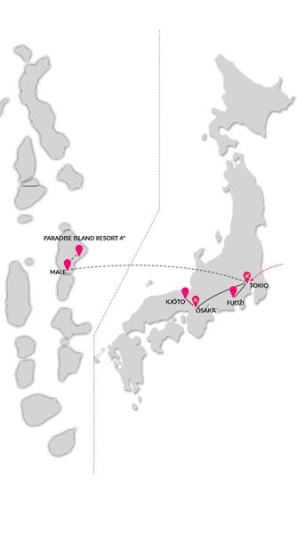 Zájezd krásy Japonska a Malediv
